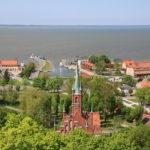 Frombork (deutsch Frauenburg) (PL) – Blick von der Domburg  über das Frische Haff