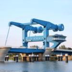Hubbrücken zur Insel Usedom