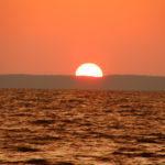 Sonnenuntergang über dem Frischen Haff (PL)