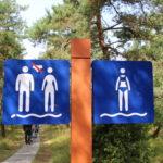 Strandzeichen auf der Kurischen Nehrung (LT)