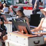 Savonlinna (FIN) – Akkordeonspielerrinnen  auf dem Marktplatz