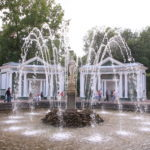 St. Petersburg (RUS) – Schloss Peterhof – Fontäne im Schlossgarten