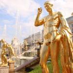 St. Petersburg (RUS) – Schloss Peterhof – Teil der Großen Kaskade