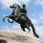 St. Petersburg (RUS) – Der eherne Reiter (bronzener Reiterstandbild des Zaren Peter der Große)