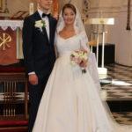 Vilnius (LV) – Hochzeit in St. Peter und Paul – das Brautpaar