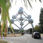 Brüssel (B) – Atomium (Kristallmodell des Eisens)