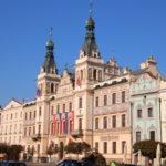 Pardubice (deutsch Pardubitz) (CZ) –  Rathaus auf dem Hauptplatz