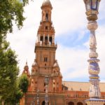 Sevilla (E) – An der Plaza de España (berühmter Platz der Stadt)