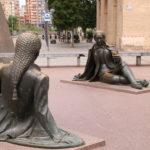 Saragossa (E) –  Auf dem Platz vor der Basilika