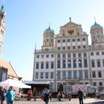 Augsburg (D) – Das Rathaus und der Perlachturm