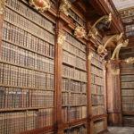 Melk (A) – Stift Melk – Bibliothek mit mittelalterlichen Manuskripten im Kloster
