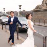 Budapest (H) – Hochzeitspaar auf der Kettenbrücke