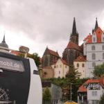 Meißen (D) – Die Albrechtsburg von meinem Stellplatz an der Elbe aus gesehen