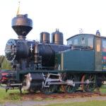 Alte Dampflok – Mein Stellplatz 40 km vor Tampere (FIN)