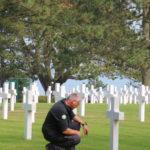 Colleville-sur-Mer (F) – Filmaufnahmen auf dem Friedhof